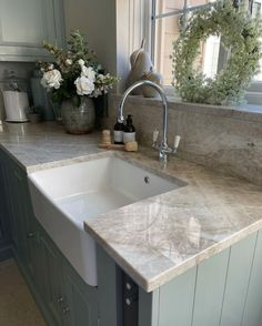 A fabulous showcase of how a utility can be practical and stylish via @glebehouse_renovation (on Instagram). Featuring gorgeous @neptunehome furniture, a striking granite worktop and our timeless chrome Phoenician mixer with lots of beautiful blooms #perrinandrowe #utilityroomdesignideas #utilityroomdesign #homedecor #rusticinteriors #countrysidehomes #designinspo #homedesignideas #homeinteriors #homeinspiration #laundryroomideas #laundryroomdesign Utility Room Inspiration, Utility Room Designs, Phoenician, Selling Design, Laundry Room Design, Rustic Interiors, Mixer, Sweet Home, Home