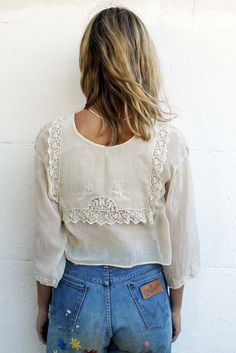 Vintage lace and wranglers