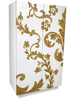 Change the Look of Your Armoire with a Sticker - http://freshome.com/2008/04/09/change-the-look-of-your-armoire-with-a-sticker/