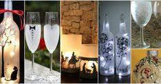 Aprende cómo hacer pintura esmerilado para decorar en vidrio Bottle Crafts, Glass Art, Decoupage, Alcoholic Drinks, Things To Do, Projects To Try, Baby Shower, Diy Crafts, Christmas