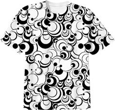 White Circles Abstract tshirt from Print All Over Me