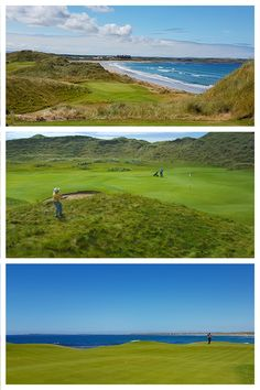 Three super holes to play at Doonbeg, 14th, 7th, and the 18th! Golf in Ireland with Concierge golf Ireland - an excellent golf tour operator to work with. Golf Ireland, Golf Tour, Tour Operator, Concierge, Golf Courses, Irish, 18th, Tours, Play