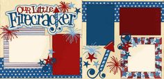 Our Little Firecracker Page Kit