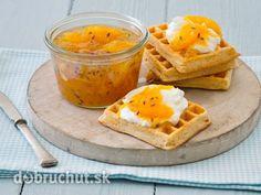 Citrusová marmeláda s levanduľou Waffles, Sweets, Breakfast, Food, Morning Coffee, Gummi Candy, Candy, Essen, Waffle