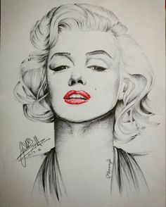 Marilyn Monroe by ObscuredOrchid // This image first pinned to Marilyn Monroe art board here: https://www.pinterest.com/fairbanksgrafix/marilyn-monroe-art/ #Art #MarilynMonroe