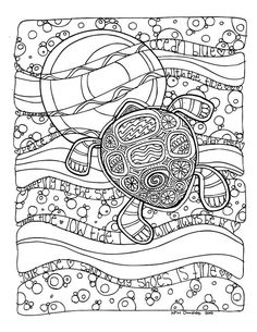 KPM Doodles Coloring Page Sea TurtleNo Pin LimitsMore Pins Like This One