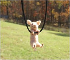 The Beading Gem's Journal: Tiny Swinging Felt Animal Jewelry by Motley Mutton...