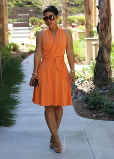 DIY Peach Dress + Pattern Review B5886 - Mimi G Style