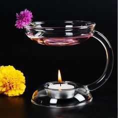 Glass Candle/Oil Burner Warmer Stand