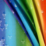 Didymos Rainbow Fish - Multi-colour warp & Natural weft -www.littlezenone.com/products/didymos