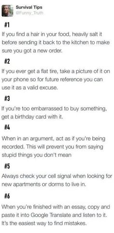 Some tips for y'all