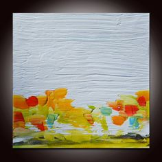 Abstract Landscape Painting Colorful Abstract Original by Andrada, $65.00