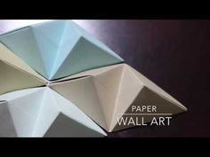 DIY Paper Wall Art with Origami Pyramid Pixels - Easy Tutorial and Decorating Ideas - YouTube