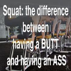 Squat: the difference between having a BUTT and having an ASS #fitnessmotivation #fitnessquotes #workouts #fitlife #fitgirl #chaisefitness #squats #pilates