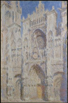 Rouen Cathedral: The Portal (Sunlight) 1894 /   Claude Monet  (French, Paris 1840–1926 Giverny)