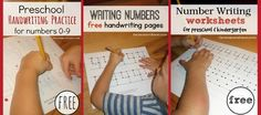 Letter and Number sheets