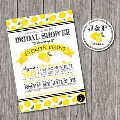 Lemon Themed Printable Bridal Shower by JalapenoPaperBtq on Etsy, $22.00