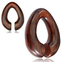 50mm FREE POST A Sono Organic Wood Flared Saddle Ear Plug x1 8mm