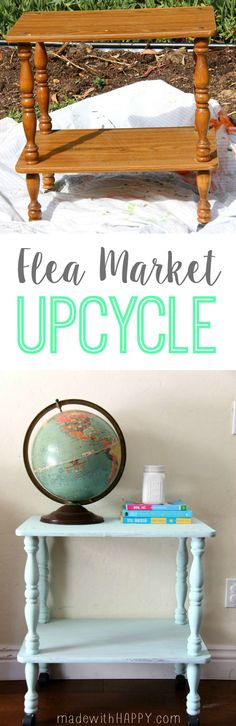 Flea Market Find | Chalky Paint DecoArt | Upcycle Flea Market Find | www.madewithHAPPY.com