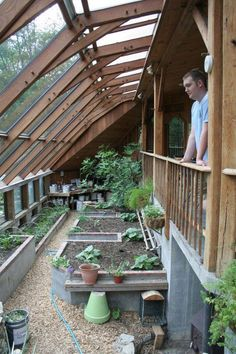 greenhouse at Sirius Ecovillage uses solar exposure, a shared wall with a house, and thermal mass to stay warm in the winter.The greenhouse at Sirius Ecovillage uses solar exposure, a shared wall with a house, and thermal mass to stay warm in the winter.