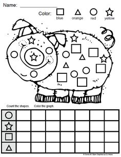 "Kindergarten Math worksheet ""Count the shapes and use your data to fill out the graph."" FREE from Donna Glynn Kinderglynn at TEACHERS pay TEACHERS Preschool Printables, Math Classroom, Kindergarten Math, Fun Math, Teaching Math, Math Activities, Preschool Activities, Maths, Teaching Resources"