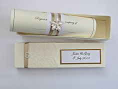 wedding scroll invitation - not sure if this is already decided, but thought this was cute!