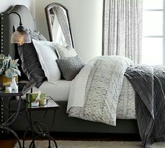 Pottery Barn - decorating in different shades of gray 50 shades of gey movie inspired furniture and decor for you house