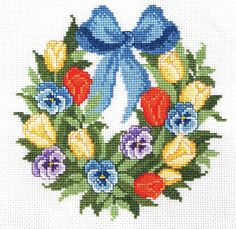 Floral Garland Cross Stitch Kit (CSKIT000015) - #5274 | Stall & Craft Collective