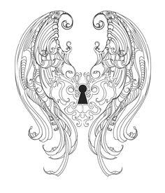 95 best art lesson ideas keys keyholes images high school art Skeleton Key Vector keyhole wings tatt design by hyrenee deviantart dream tattoos love tattoos