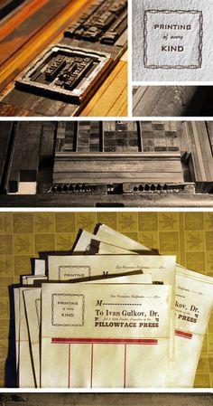 The Beauty of Letterpress: Billhead