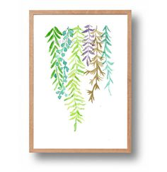 Art print Abstract Ferns abstract fern by TheJoyofColor on Etsy