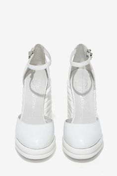 Jeffrey Campbell Novice Leather Wedge - White - Jeffrey Campbell |