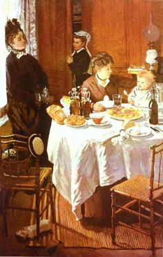 Monet, Claude - The Luncheon - Impressionism - Genre - Oil on canvas