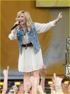 Demi Lovato Sings Her Hits on 'GMA'! | demi lovato good morning america summer concert performer 03 - Photo
