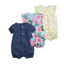2017 orangemom baby meisje kleding-stukken jumpsuits babykleding, katoen korte romper baby meisje kleding bebes roupas menina(China (Mainland))