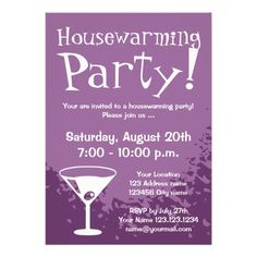 Housewarming party invitations | custom invites