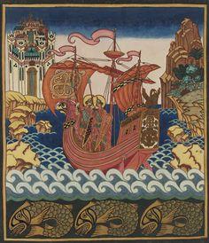 ivan bilibin︎Artist, Illustration, Russian, Folk ︎Melt Ivan Bilibin was a Russian illustrator and stage designer who took part in the. Ivan Bilibin, Art Deco Illustration, Illustrations, Russian Folk, Russian Art, Fairy Tail Art, Fairy Tales, Medieval Art, Old Art