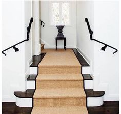 Of Staircases For Interior Design Inspiration Foyer Decorating Ideas. Sisal stair runner with black edging. Sisal stair runner with black edging. Hallway Carpet Runners, Cheap Carpet Runners, Carpet Stairs, Stairway Carpet, Wall Carpet, Bedroom Carpet, Basement Carpet, Hallway Runner, Sisal Stair Runner