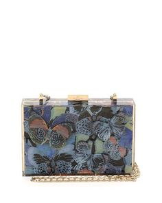 51baec62ffae Camu Butterfly-Print Box Clutch Bag by Valentino at Bergdorf Goodman.  Valentino Clutch