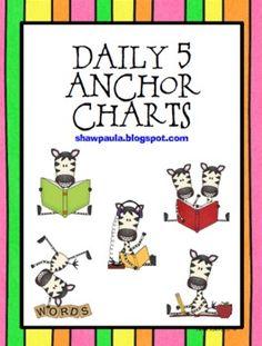 Daily 5 - Free Anchor Charts