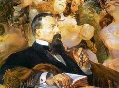 Jacek Malczewski, Portrait of Edward Raczynski on ArtStack #jacek-malczewski #art