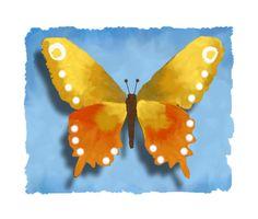 Butterfly on Blue butterfly art nature by HamiltonArtandDesign, $15.00