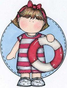 SUMMER LITTLE GIRL CLIP ART