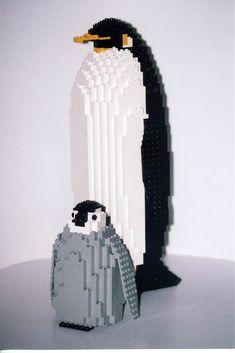 ⌨ Legos ⌨ I lov Penguins! Lego Toys, Lego Duplo, Legos, Lego Penguin, Modele Lego, Van Lego, Lego Machines, Lego Sculptures, Amazing Lego Creations