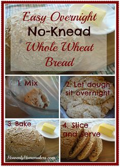 Easy No-Knead Whole Wheat Bread