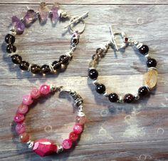 Gemstone Bracelets now for sale at Northwood Gallery in Midland, MI