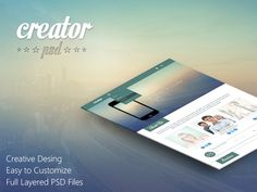 Creator PSD Template by Murat Kaptı, via Behance
