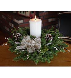winter-elegance-pillar-candle-centerpiece