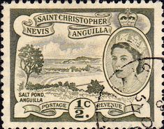 1954 St Christopher Nevis Anguilla SG 106a Salt Pond Fine Used SG 106a Scott 120 Other Old postage stamps for sale Here