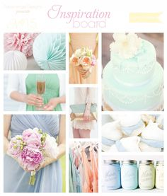 Spring Pastels Lilac Peach Baby Blue Mint Green Wedding Inspiration
